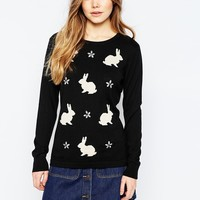 Sugarhill Boutique Sparkle Bunny Sweater at asos.com