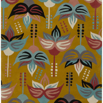 Jessica Swift Collection Hand-Tufted Wool Rug in Yellow design by Chandra Rugs