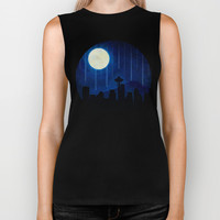 Seattle at Night Biker Tank by Noonday Design