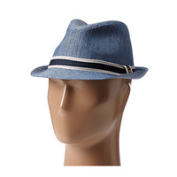 Sperry Top-Sider Chambray Fedora w/ Ribbon Trim Denim - 6pm.com