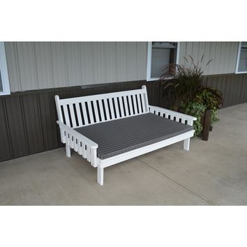 A & L Furniture Co. Yellow Pine 4' Traditional English Daybed  - Ships FREE in 5-7 Business days