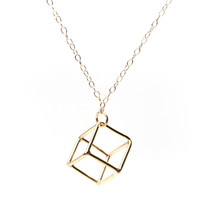 Single Cube Necklace -