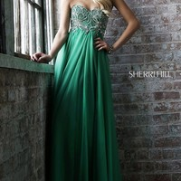 Strapless Floor Length Sherri Hill Prom Dress