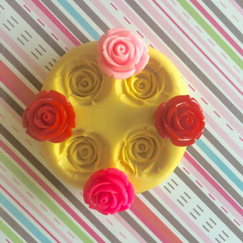ROSE Flower Set Silicone MOLD - Cake Decoration, Cake Pops, Fimo, Resin Mold, Fondant Mold, Cupcake Topper, Jewelry, Polymer Clay, Gum Paste
