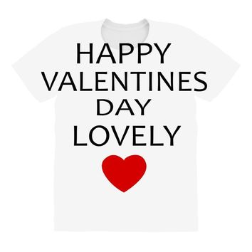 happy valentine day lovely All Over Women's T-shirt