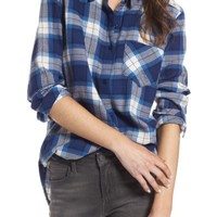 BP. Plaid Cotton Blend Shirt | Nordstrom