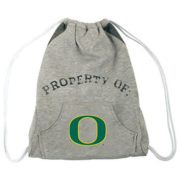 NCAA Oregon Ducks Hoodie Cinch Backpack, 14 x 17-Inch, Gray