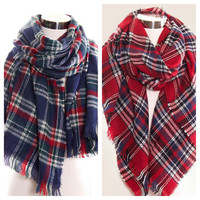 Oversized Cleo Plaid Scarf