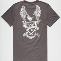 Imperial Motion Combat Mens T-Shirt Heather Black  In Sizes
