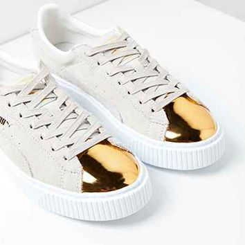 ac5a53b457f7 Puma Suede Platform Gold Toe Sneaker - from Urban Outfitters