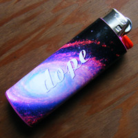 Dope Galaxy Lighter Sticker Cover