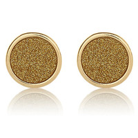 River Island Womens Gold tone glittery stud earrings
