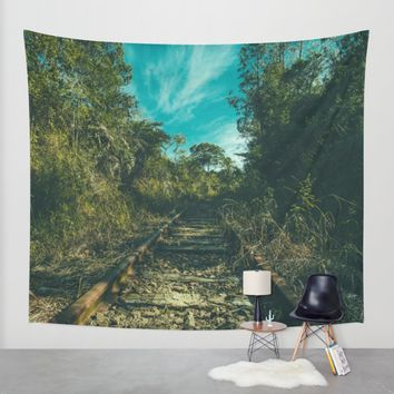 Abandoned Wall Tapestry by Mixed Imagery
