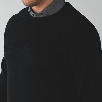 aran sweater crew | men's long sleeve tops | lululemon athletica