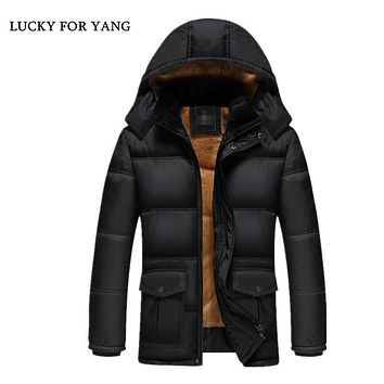 LUCKY FOR YANG winter jacket men men's coat winter brand man clothes casacos masculino Thick winter coat
