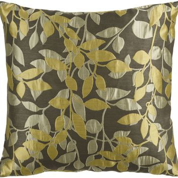 Wind Chime Throw Pillow Brown, Green