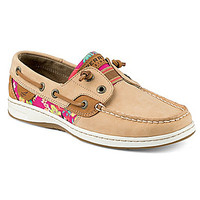 Sperry Top-Sider Rainbowfish Flamingo Floral Boat Shoes - Linen