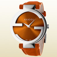 Gucci - interlocking collection large dark orange watch 366922I18A08764