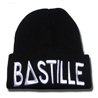DEBANG Bastille Band Logo Beanie Fashion Unisex Embroidery Beanies Skullies Knitted Hats Skull Caps