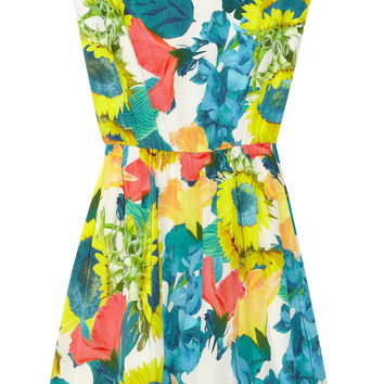 Alice + Olivia Alissa floral-print stretch silk-georgette dress – 56% at THE OUTNET.COM