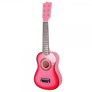 "21"" Pink Toys Childrens Acoustic Guitar & Pick & Strings"