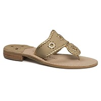 Nantucket Gold Sandal in Baby Camel & Gold by Jack Rogers - FINAL SALE