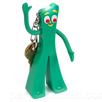 GUMBY LED KEY CHAIN