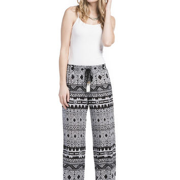 GREEN DRAGON Tribal Beat Campfire Drawstring Pants