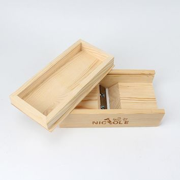 Nicole Soaps Beveler Planer Wood Box for Handmade Soap Making Tools
