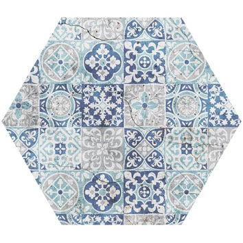 Tile Pattern Hex Wall Decal