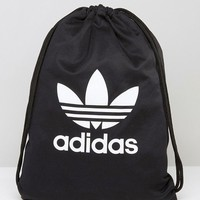 adidas Originals Drawstring Backpack With Trefoil Logo at asos.com