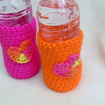 Water Bottle Cozy, Crochet Beer Cozy, Can Cozy, Set of Bottle Cozies, Beach Gear, Bottle Protector, Beer Bottle Holder,  Koozie