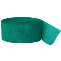 Crepe Paper Party Streamers, Emerald Green 81 Ft.