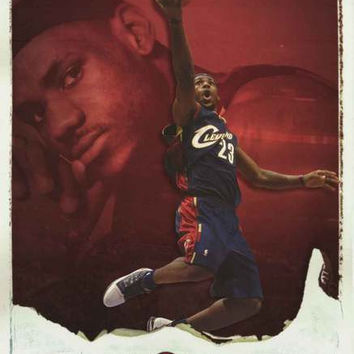 LeBron James Big Air Basketball Poster 22x34