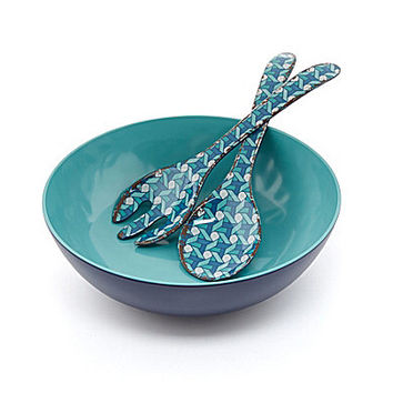 Noble Excellence Melamine Salad Bowl with Servers Set | Dillards.com