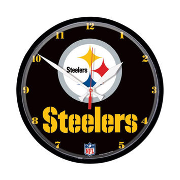 Pittsburgh Steelers NFL Round Wall Clock