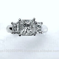 2.28ct Princess Diamond Engagement Ring JEWELFORME BLUE 900,000 GIA Certified not blue nile