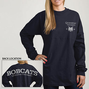 Quinnipiac University Bobcats Women's Ra Ra Football Long Sleeve T-Shirt | Quinnipiac University