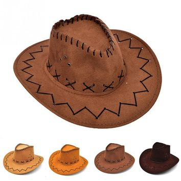 New Arrival 2017 Fashion CowboyHat For Kid Boys Gilrs Party Costumes Cowgirl Cowboy Hat