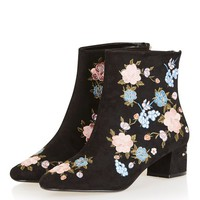 BLOSSOM Floral Ankle Boots