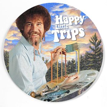 Happy Little Trips Bob Ross Dab Mat
