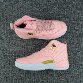 One-nice™ 2017 New Color Pink Air jordan 12 retro sneaker GS I