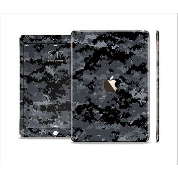 The Black Digital Camouflage Skin Set for the Apple iPad Air 2
