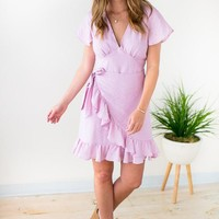 You're Still The One Ruffle Dress - Pink