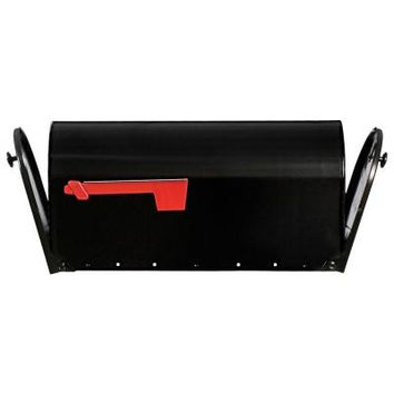 Gibraltar Mailboxes Elite Plus Double Door Steel Post-Mount Mailbox with Rear Access Door in Black-E16X2B01 - The Home Depot