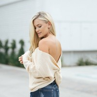 Gwen Cream Knit Twisty Sweater