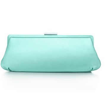 Tiffany & Co. | Item | Holly clutch in Tiffany Blue?- satin. More colors available. | United States