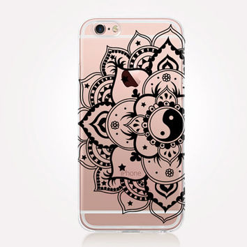 Transparent Mandala iPhone Case - Transparent Case - Clear Case - Transparent iPhone 6 - Transparent iPhone 5 - Transparent iPhone 4