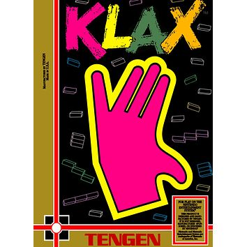Retro Klax Game Poster//NES Game Poster//Video Game Poster//Vintage Game Cover Reprint