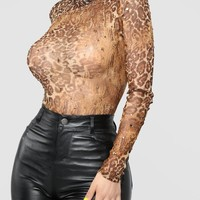 Fierce And Fab Bodysuit - Brown/Combo